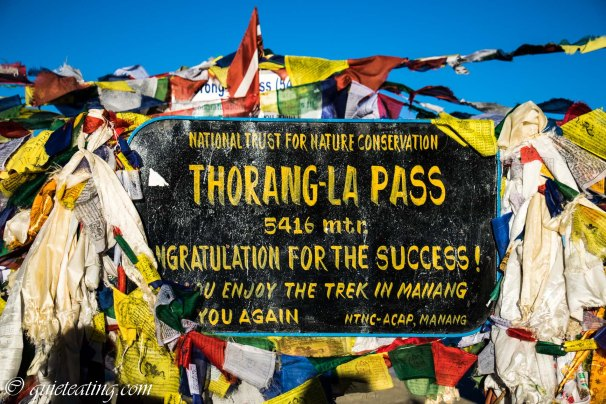 So this is how 4 hours after our start, at 7:30am, we reached Thorang-la pass. 5416m. Congratulations for the success indeed!