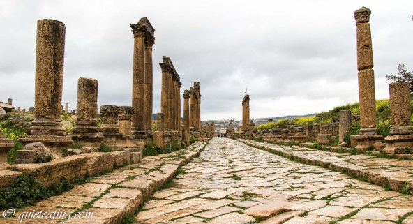 A roman city with crumbling roads