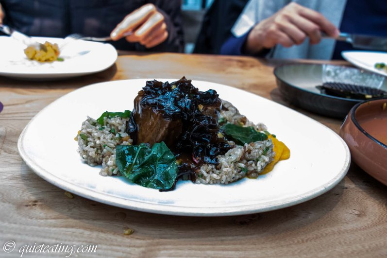 Stewed Nikkei Chifa Angus short ribs with wok saunted fried rice and bacon char siu
