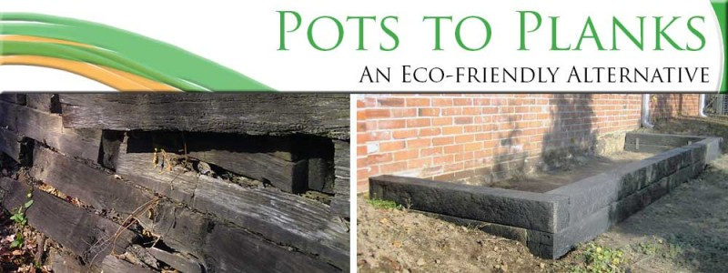 Pots to Planks A Green Alternative to Railroad Ties  St