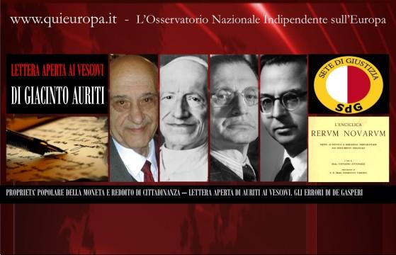 Giacinto Auriti - Proprietà Popolare della Moneta