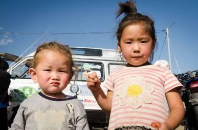 Niños en Nalaikh (afueras de Ulan Bator) (Personalizado)