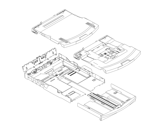 Brother MFC-885CW Paper Tray Exit Assembly (OEM) SP