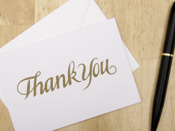write the perfect thank