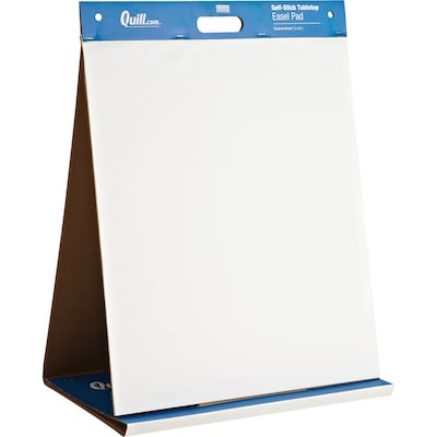 Quill brand self stick easel pad table top flip chart unruled also tabletop rh