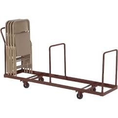 Folding Chair Dolly Arm Covers With Pockets Nps Dy 35 Vertical Storage Capacity Brown Quill Com