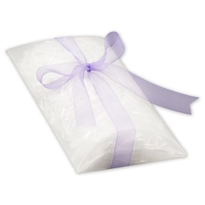 bags bows 7 x 5 1 2 x 2 frosted pillow boxes clear 100 pack