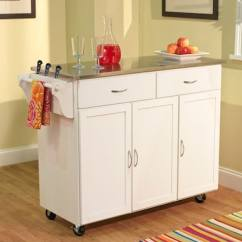 Large Kitchen Cart Cabinets Online Wholesale Tms Extra With Stainless Steel Top White