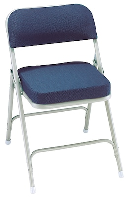folding fabric chairs chair covers and bows cardiff nps 3215 2 padded regal blue grey pack