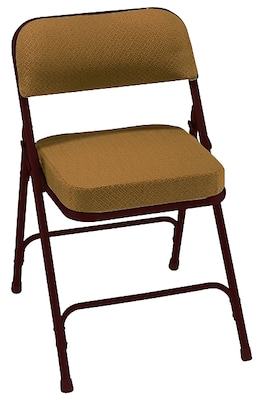 cloth padded folding chairs famous chair designs nps 3219 2 fabric antique gold brown pack