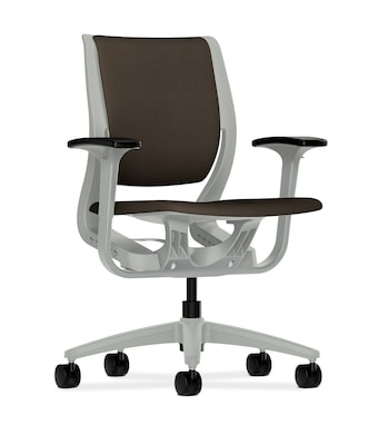 upholstered computer chair high top table and sets hon purpose mid back office adjustable arms