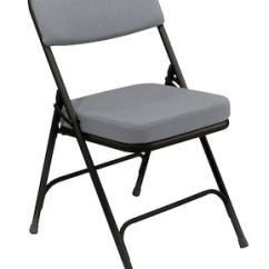 Black Padded Folding Chairs White Lounge Chair Covers Nps 3212 2 Fabric Charcoal Grey 52 Pack