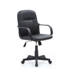 Office Chair With Adjustable Arms Aeron Size C Hodedah Mesh Executive Black Hi 1011 Quill Com
