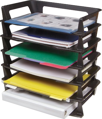 Recycled Stackable LetterSize Trays 6Tier  Quillcom
