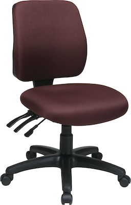 chair without back modern reclining office star worksmart freeflex fabric mid ergonomic task arm burgundy quill com