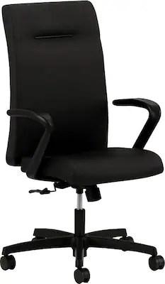 hon ignition fabric chair argos santa covers executive high back task fixed arms black standard base next2018 nextex quill com