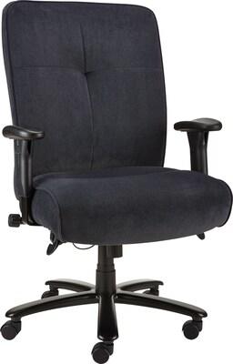 office chair fabric lazy boy lift chairs quill nigel steel big tall blue 42 7 45 5 h x 5h