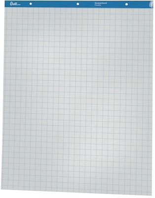 Quill brand easel pad flip chart grid  sheets also graph style sht rh