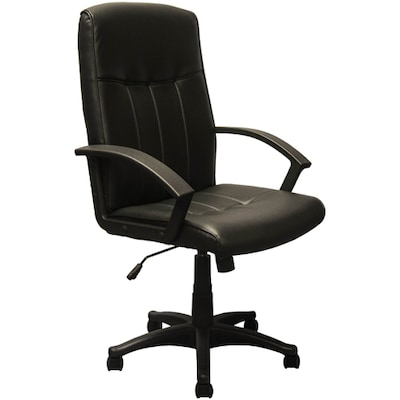 black leather office chair high back pads for kitchen chairs advantage executive kb 3001 quill com