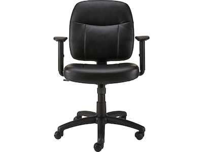 staples computer chairs plastic chaise lounge cheap timbell faux leather and desk chair black 28365 quill com