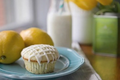 Lemon Poppy Seed Muffins recipe from Quill & Glass blog