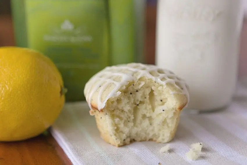 Lemon Poppyseed Muffins recipe from Quill & Glass blog