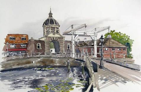 Lift Bridge, Leiden, Netherlands, Sold