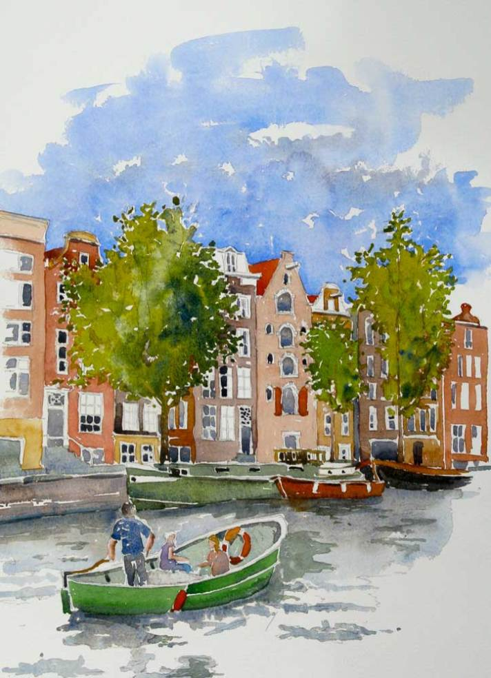 Sunday on the canal, Amsterdam, Sold
