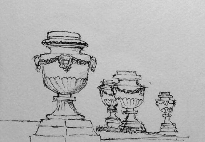 My sketch from near the Gloriette
