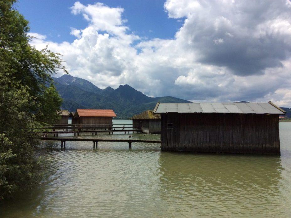 Boat houses at Kochel