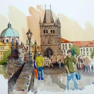 From Charles Bridge, Prague, Czech Republic, $425 framed
