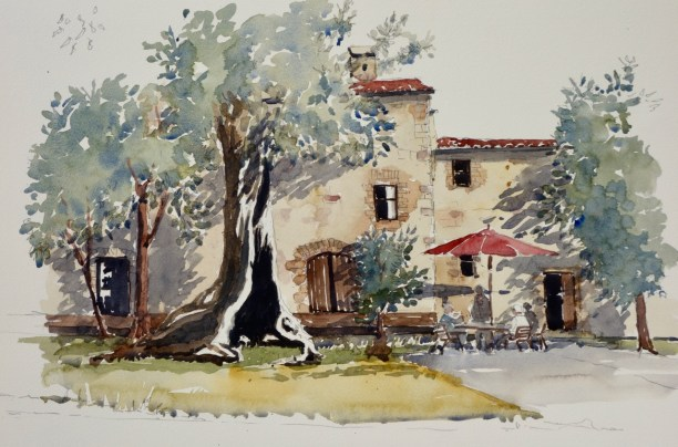 The Olive Tree, Monteriggioni, Italy, SOLD
