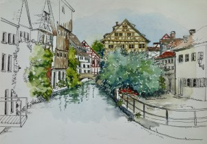 Fisherman's Quarter, Ulm, Germany. $375 framed