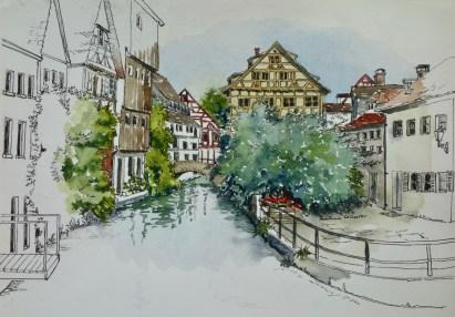 Fisherman's Quarter, Ulm, Germany. $375 framed
