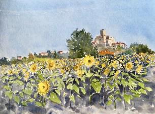 Sunflowers, Montflanquin, France SOLD