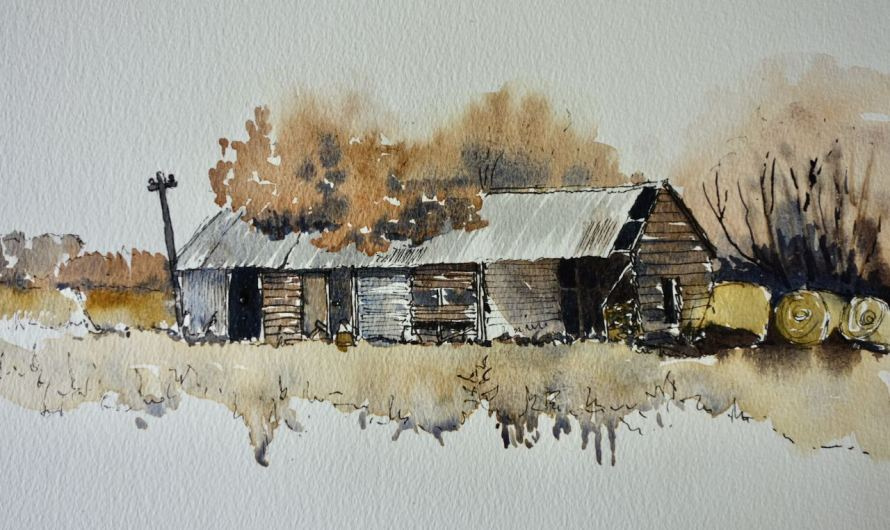 Line and wash demonstration