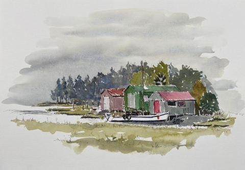 Boatsheds, Riwaka Wharf $225