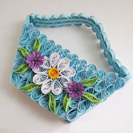 paper quilling basket tutorial
