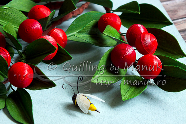 paper quilled cherries tutorial