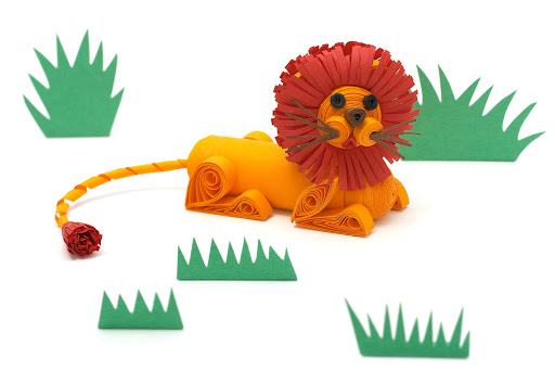 3D paper quilled lion tutorial