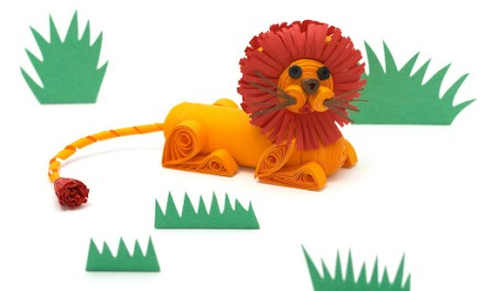Paper Quilled 3D Lion Tutorial