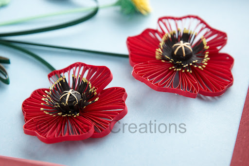 Paper Quilled Poppies Tutorial – in 3 Parts