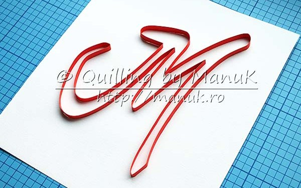 Quilling Typography Outline Tutorial