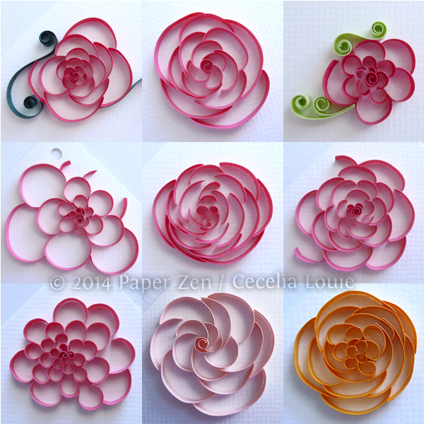 cutcoil flowers tutorial by Paper Zen