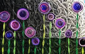 paper quilling retro flowers mosaic tutorial - Little Circles