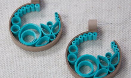 Semi Circle Scroll Paper Quilling Earrings Tutorial