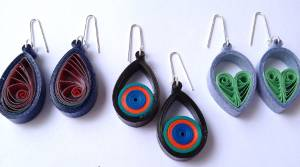Small Paper Quilled Teardrop Earrings Tutorial