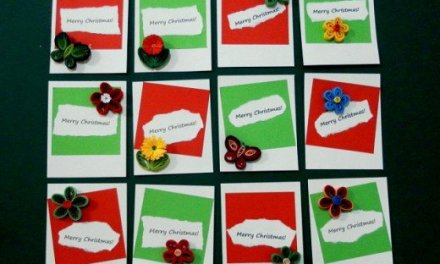 Tutorial for Paper Quilling Christmas Gift Tags