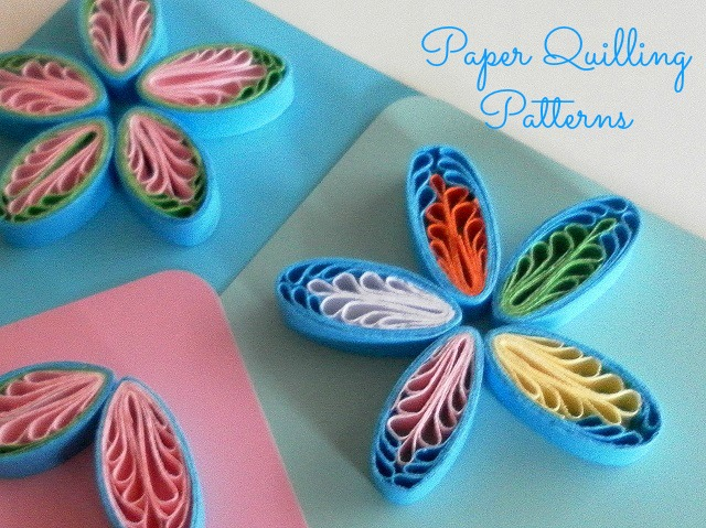 Free tutorial for flowers made from a quilling comb