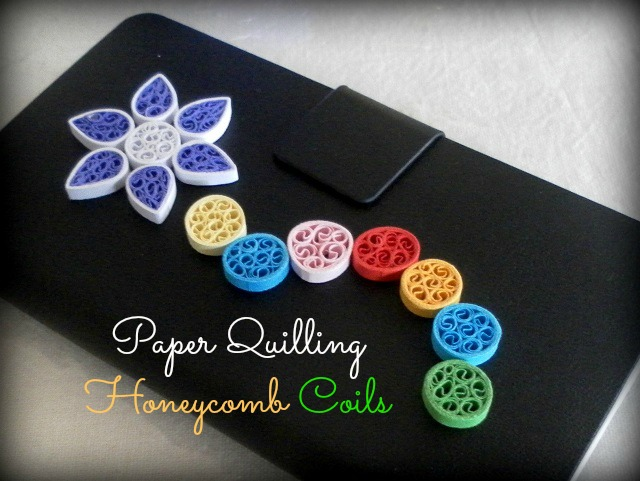 How to make little circles with paper quilling honeycomb pattern inside
